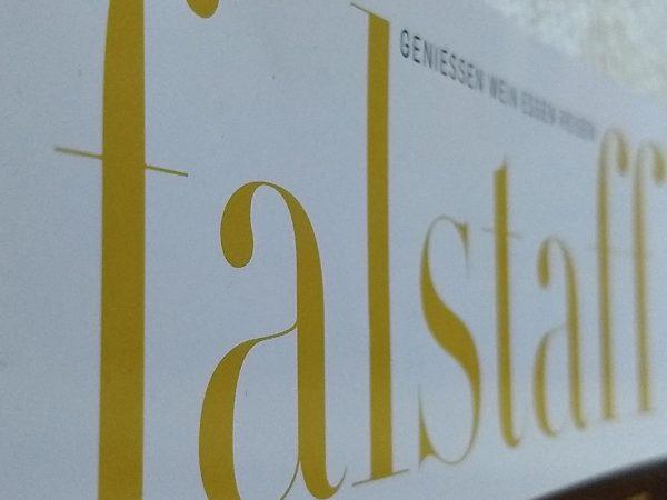 Falstaff Cover Schriftzug