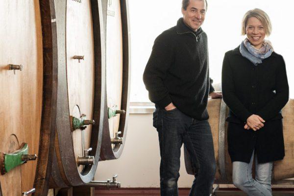 Wine maker Silke Mayr and cellar master Michael Nastl